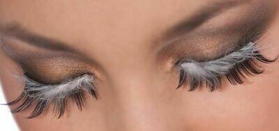 Black-White/Feathers Eyelashes