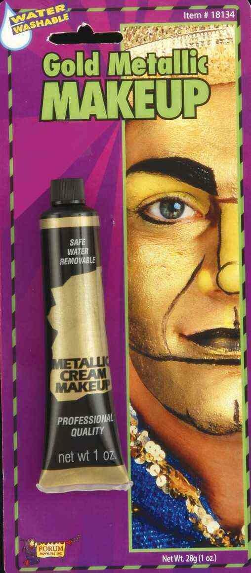 Cream Makeup Tube - Gold Metallic
