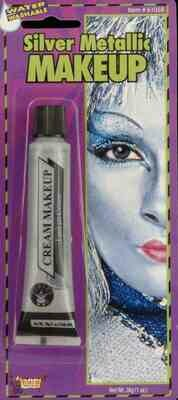 Cream Makeup Tube - Silver Metallic
