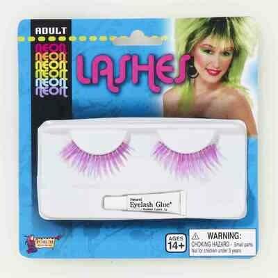 Neon Purple Eyelashes