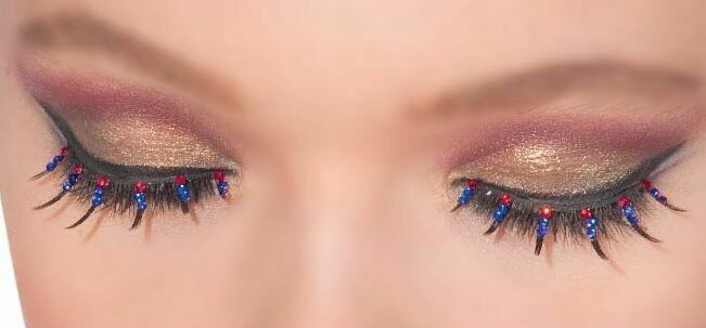 Patriotic/Cop Eyelashes
