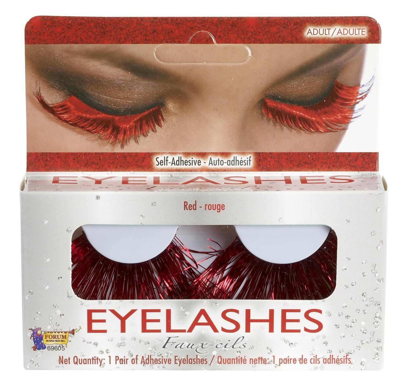 Red Tinsel/Devil Eyelashes