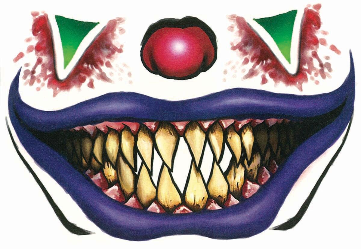 Face Tattoo - Evil Clown