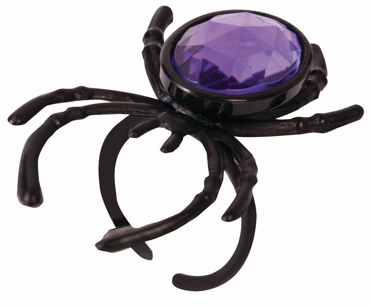 Purple and Orange Gem Spider Rings