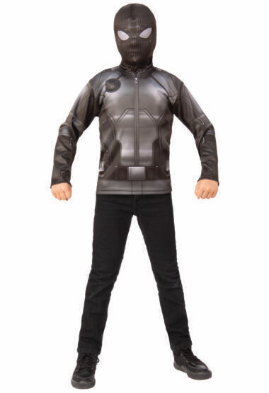 Spider-Man: Far From Home Spider-Man Stealth Black/Gray Suit Costume Top - Kids