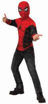 Spider-Man: Far From Home Spider-Man Red/Black Suit Costume Top - Kids