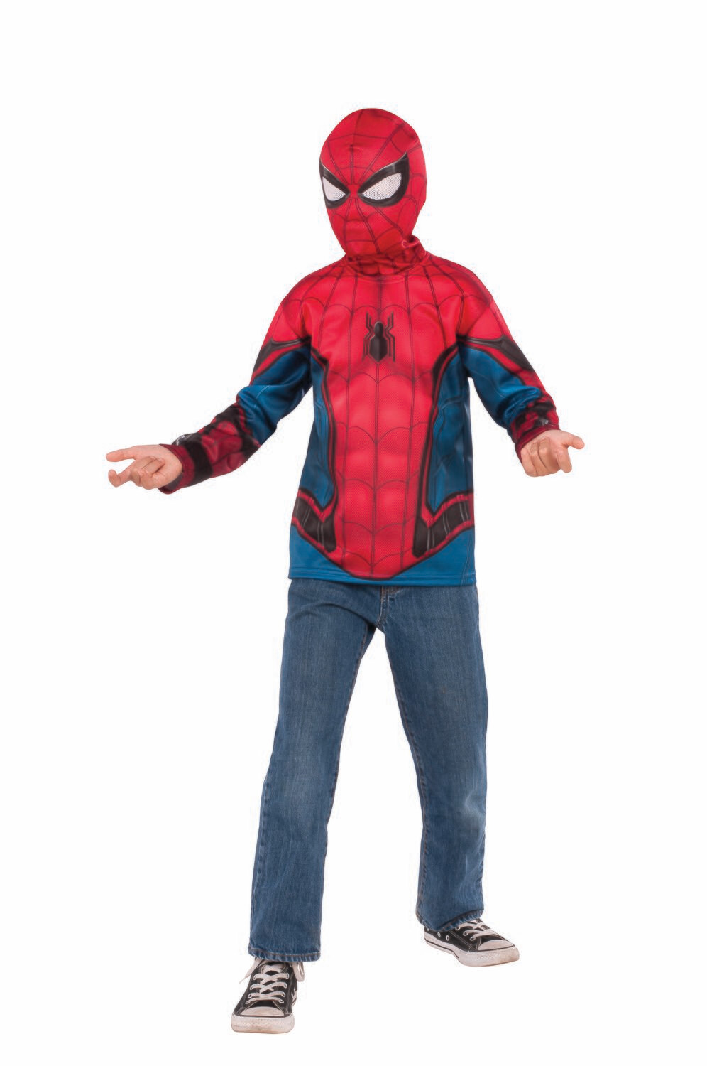 Spider-Man: Far From Home Spider-Man Red/Blue Suit Costume Top - Kids