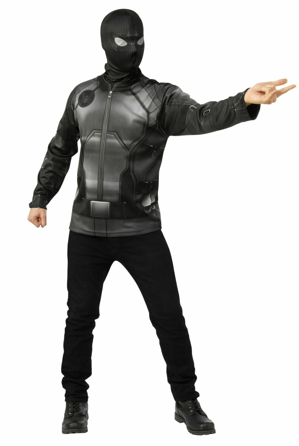 Spider-Man: Far From Home Spider-Man Stealth Black/Gray Suit Costume Top - Adult