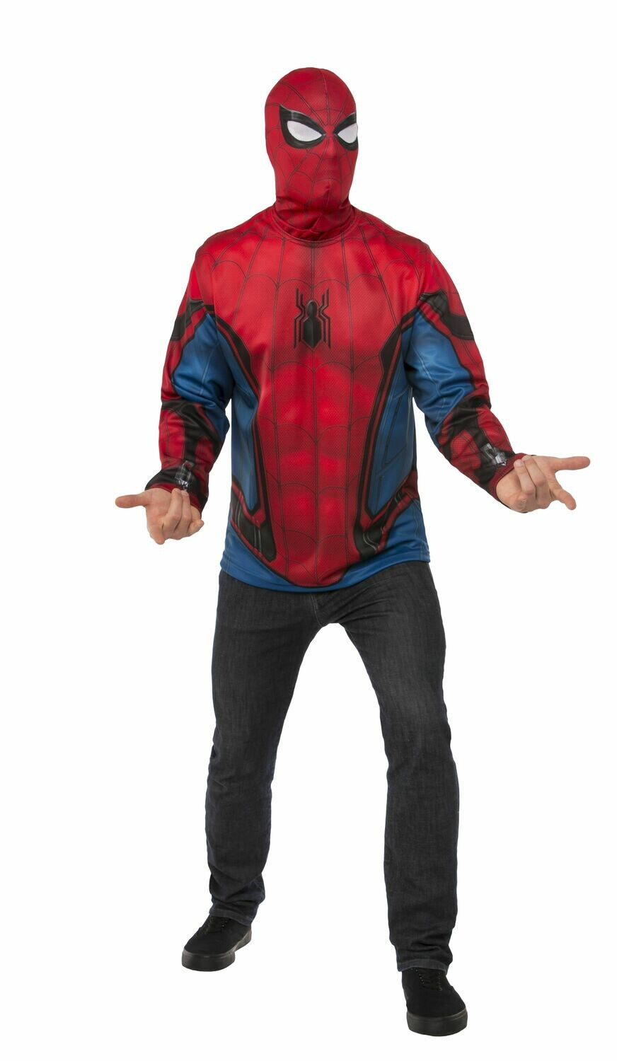 Spider-Man: Far From Home Spider-Man Red/Blue Suit Costume Top - Adult