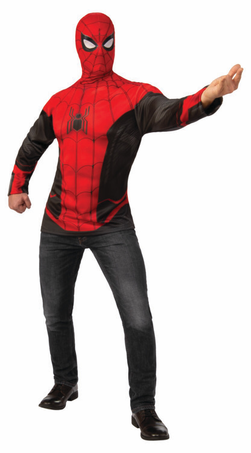 Spider-Man: Far From Home Spider-Man Red/Black Suit Costume Top - Adult