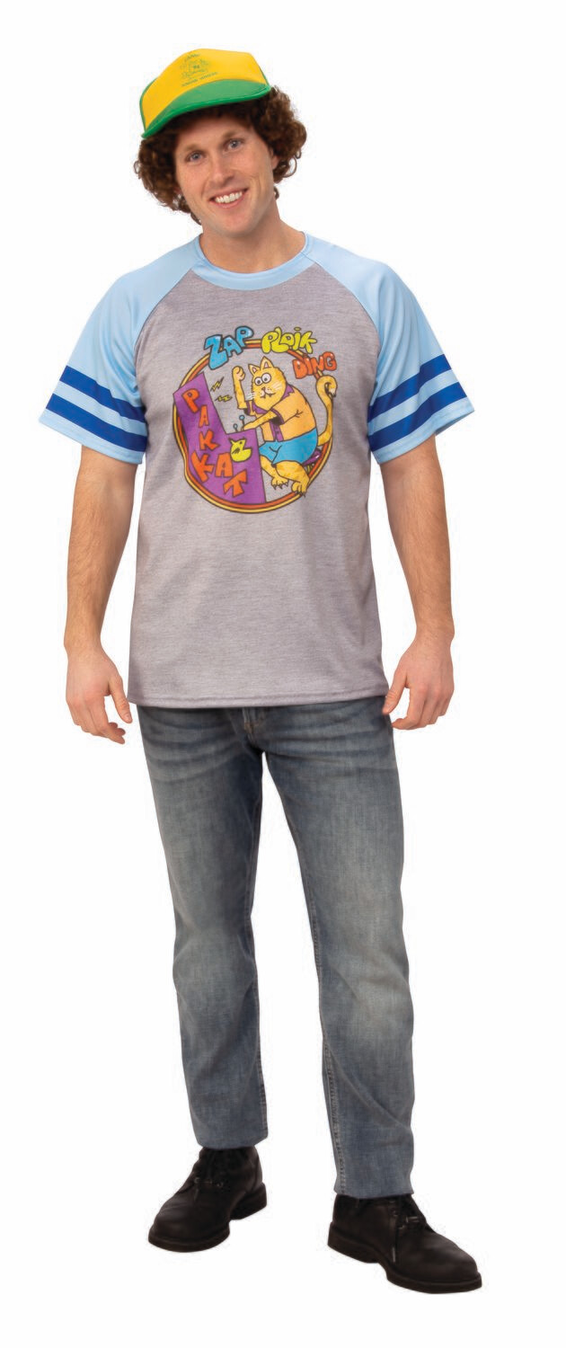 Stranger Things 3 Dustin's T-Shirt - Arcade Cats - Adult