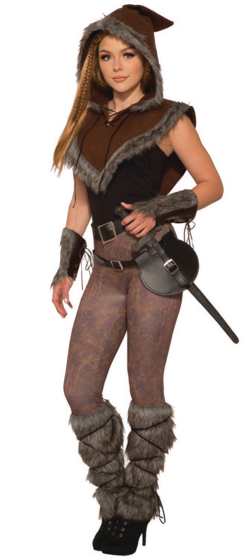 Viking - Fur Trim Hooded Capelet