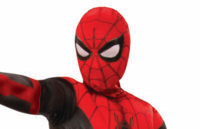 Spider-Man: Far From Home Red/Black Fabric Mask - Kids
