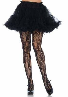 Black Rose Skull Lace Tights