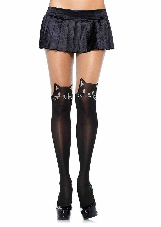Black Cat Pantyhose