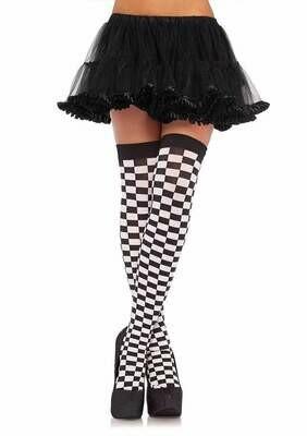 Checkered Thigh Highs