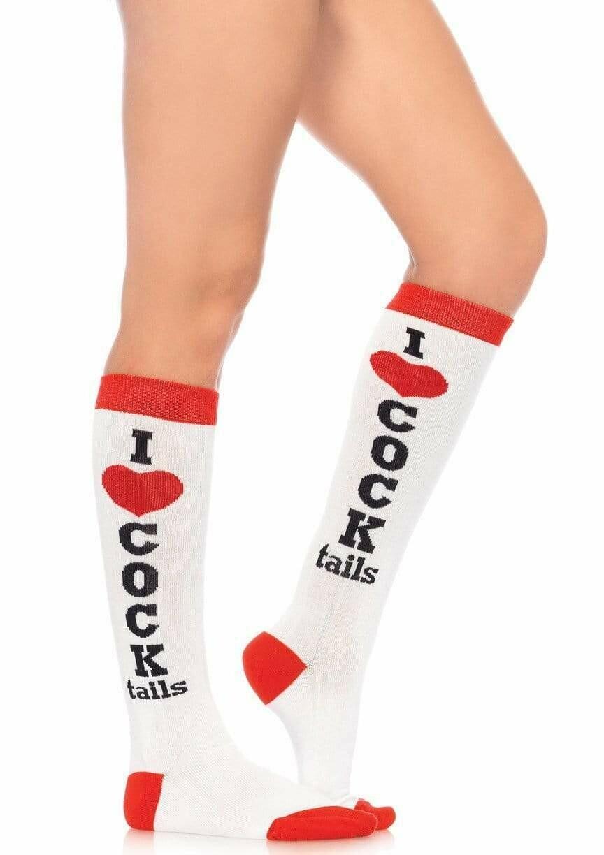 Cocktails Acrylic Knee Socks
