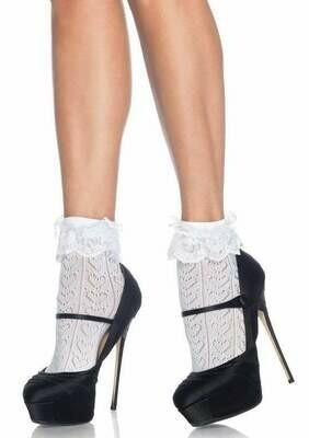 Crochet Heart Anklet Socks
