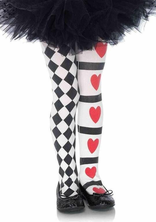 Harlequin and Hearts Tights