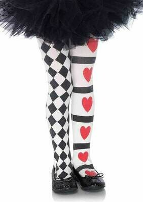 Harlequin and Hearts Tights