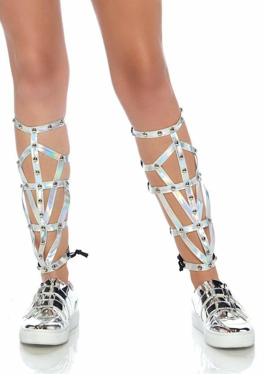 Iridescent Studded Shin Guards