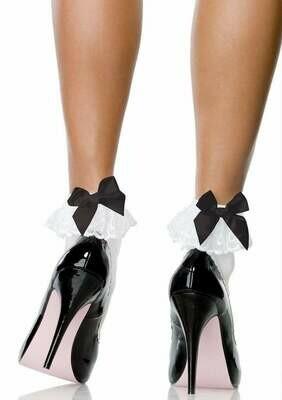Stocking Bow & Lace Ruffle