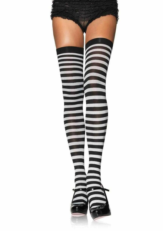 Nylon Striped Stockings