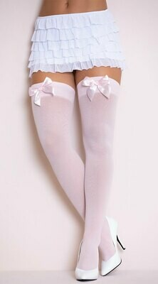 Nylon Thigh Highs With Bow