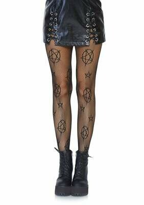 Occult Symbol Fishnet Tights