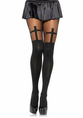 Opaque Cross Pantyhose