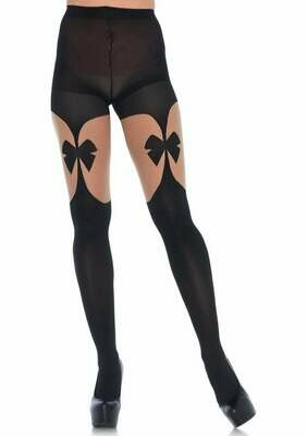 Opaque Illusion Garter belt Tights