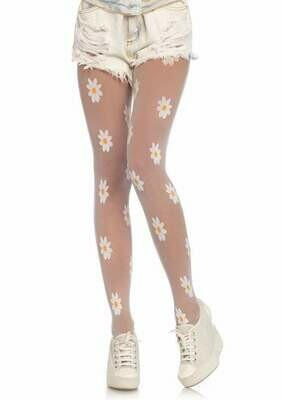 Sheer Daisy Pantyhose