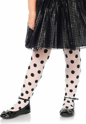 Sheer Printed Polka Dot Tights