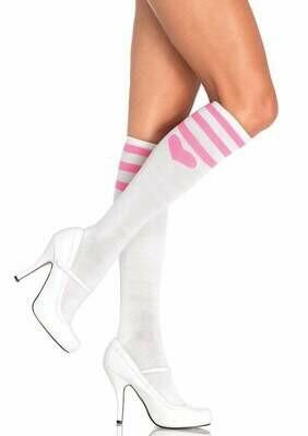 Sweetheart Knee Socks