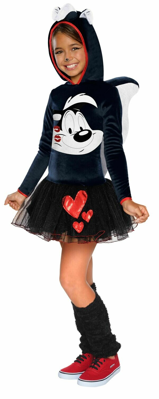 Hooded Tutu Dress Kids Pepe Le Pew Costume