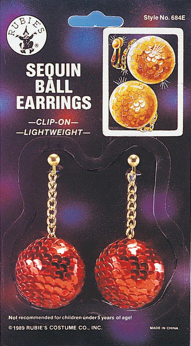 Sequin Ball Clip-On Earrings