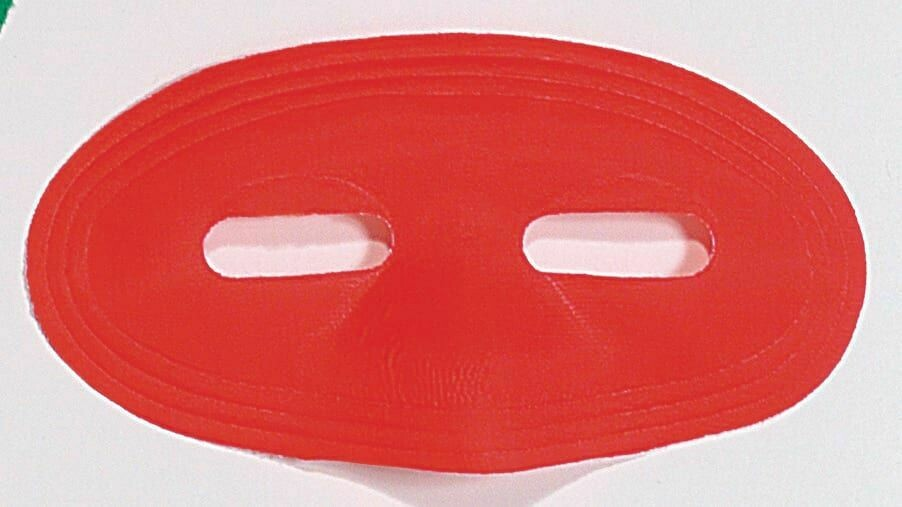 Red Satin Domino Eye Mask