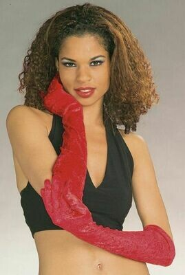 Long Gloves Red Velvet