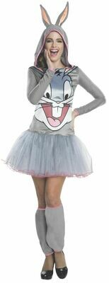 Hooded Tutu Dress Bugs Bunny Costume