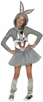 Hooded Tutu Dress Bugs Bunny Costume - Girls