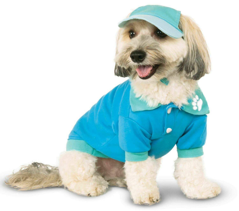 Light Blue Polo Shirt Pet Costume