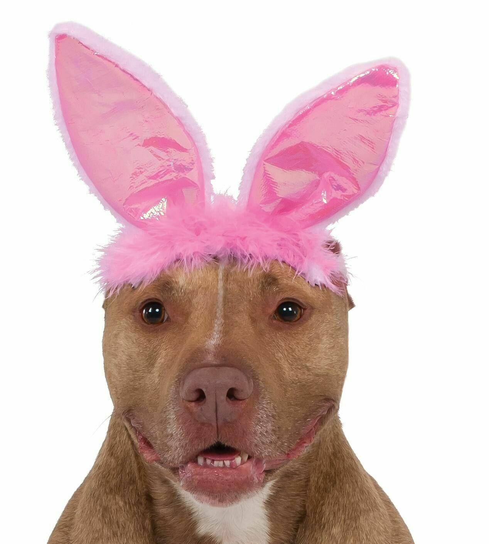 Pink Bunny Ears Pet Costume