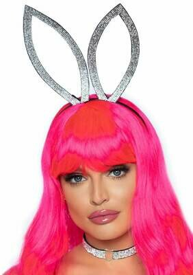 Rhinestone Bunny Ear Headband and Choker