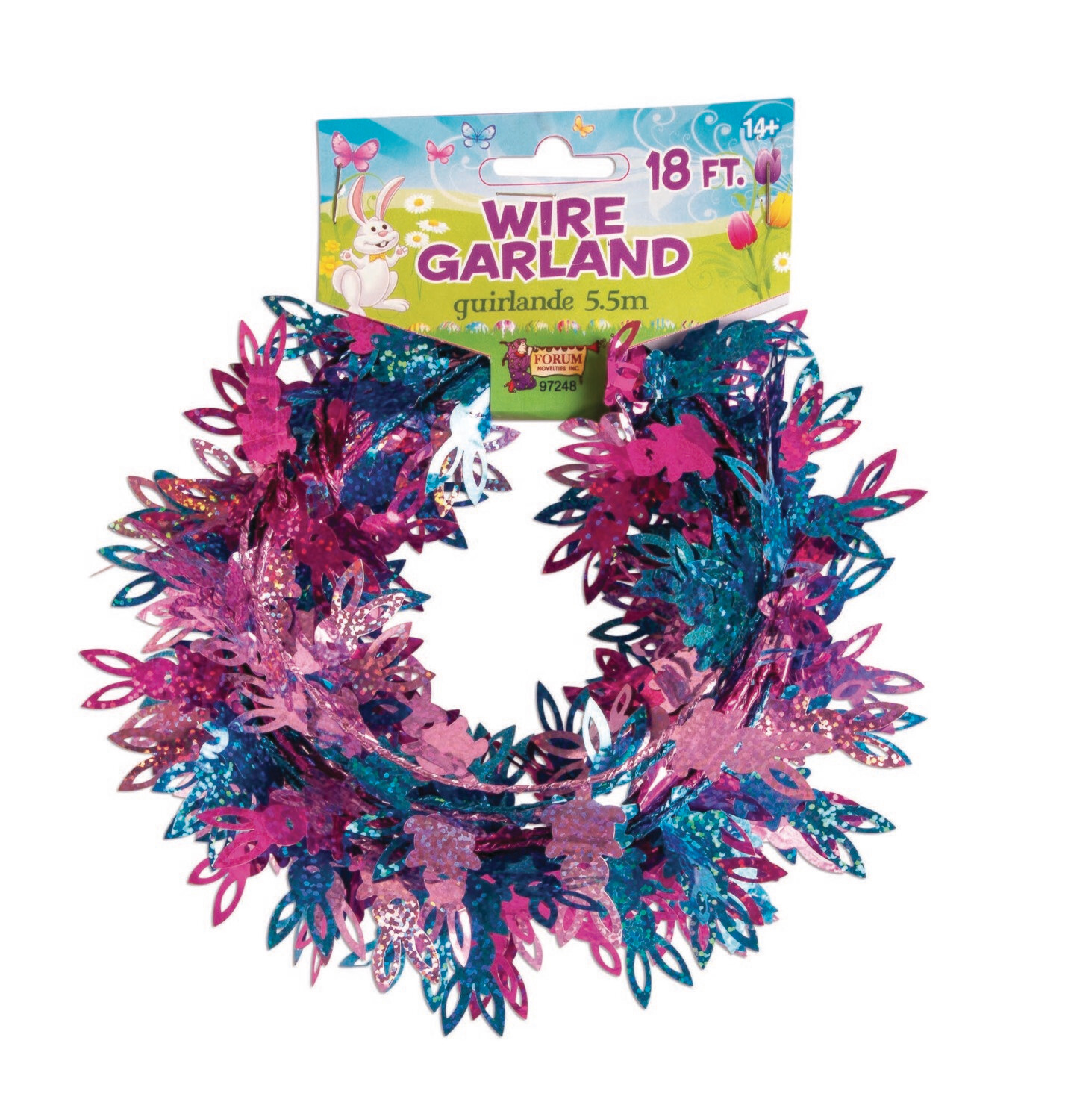 Easter Multi Holographic Garland