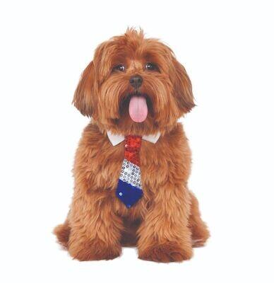 Pet Patriotic Tie