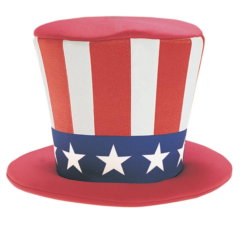 Foam Uncle Sam Top Hat