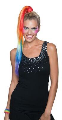 Rainbow Ponytail Clip