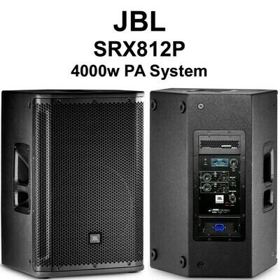 """JBL SRX812P 12"""" Two-Way Bass Reflex Self Powered System #JBSRX812P MFR #SRX812P"""