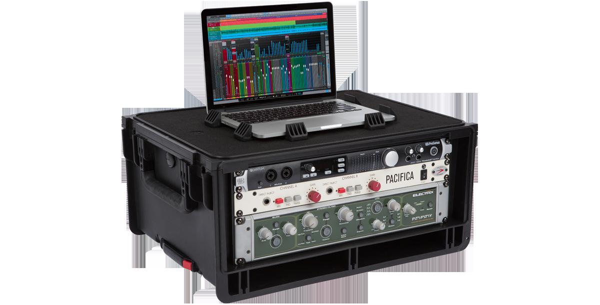 SKB Injection-Molded 4-RU Studio Flyer Rack Case #SK1SKBISF4U MFR #1SKB-ISF4U