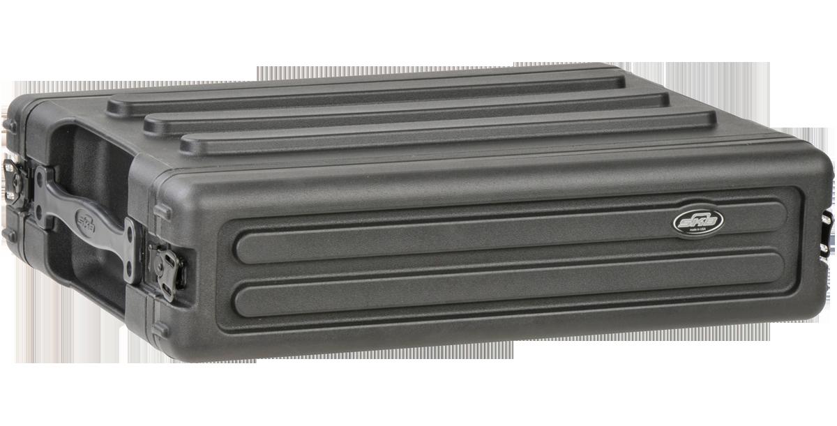 SKB 2U Roto Shallow Rack Case with Steel Rails #SK1SKBR2S MFR #1SKB-R2S